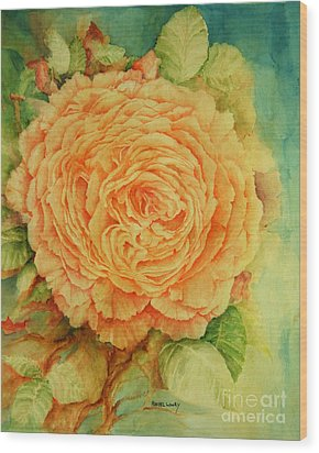 Wood Print featuring the painting Summer Rose by Rachel Lowry
