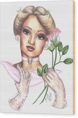 Summer Rose Wood Print by Scarlett Royal