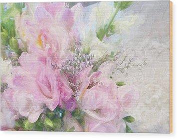 Summer Roses Wood Print by Karen Lynch