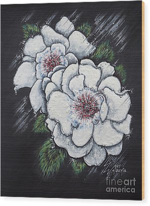 Summer Roses Wood Print by Scott and Dixie Wiley