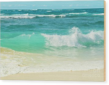 Wood Print featuring the photograph Summer Sea by Sharon Mau