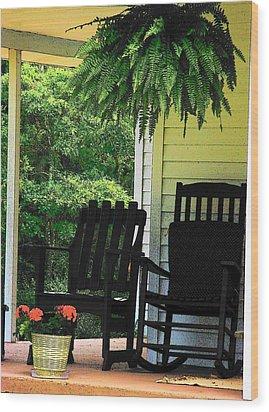 Summer Sitting Wood Print by Joyce Kimble Smith