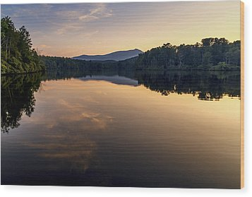 Price Lake Sunset - Blue Ridge Parkway Wood Print