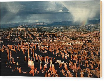 Summer Storm At Bryce Canyon National Park Wood Print by Jetson Nguyen