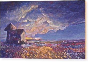 Summer Storm Wood Print by Joanne Smoley