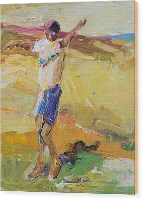 Wood Print featuring the painting Summer Sun Dance   by Diane Ursin