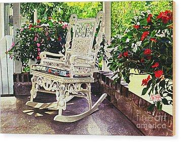 Summer Sun Porch Wood Print by David Lloyd Glover