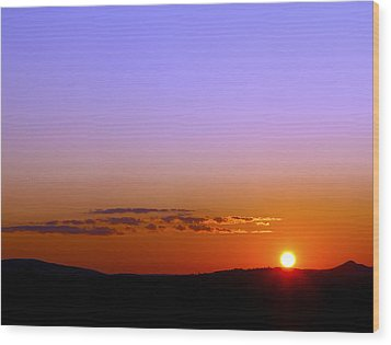 Wood Print featuring the photograph Summer Sunset by Gary Smith