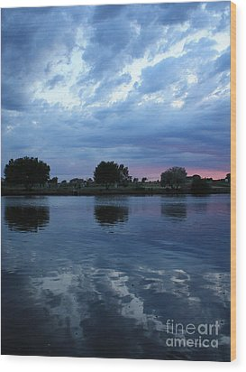 Summer Sunset On Yakima River 5 Wood Print by Carol Groenen