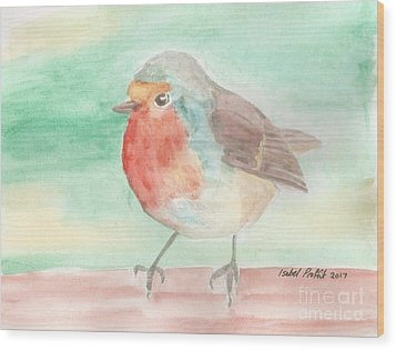 Summer Time Robin Wood Print by Isabel Proffit