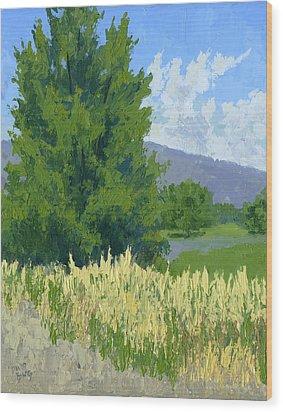 Summer Tree Wood Print