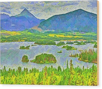 Summer View Of Lake Dillon In The Colorado Rocky Mountains Wood Print