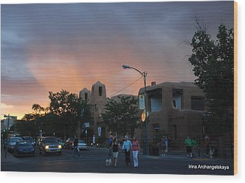 Summer Walk In Santa Fe  Wood Print