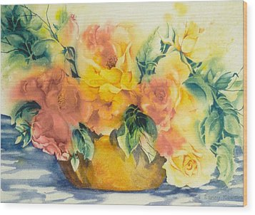 Summer-warmth Wood Print by Nancy Newman