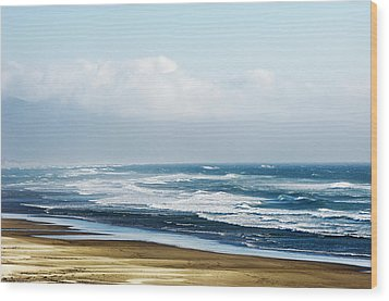 Summer Waves Netarts Oregon Wood Print