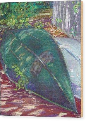 Summerime Overturned Wood Print by Katherine  Berlin