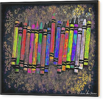 Summer's Crayon Love Wood Print