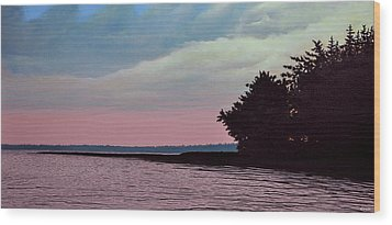 Summers Eve Wood Print by Kenneth M  Kirsch