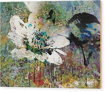 Summers Garden Wood Print by Angela Holmes