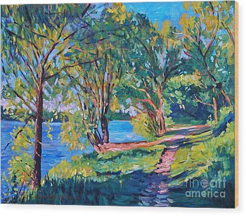 Summer's Lake Wood Print by David Lloyd Glover