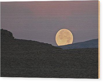 Summers Super Moon Wood Print