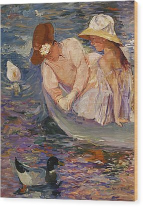 Wood Print featuring the painting Summertime By Mary Cassatt 1894 by Movie Poster Prints