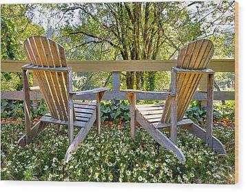 Summertime Wood Print by Debra and Dave Vanderlaan