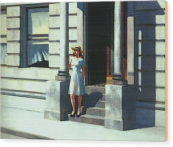 Summertime  Wood Print by Edward Hopper