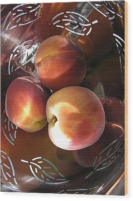 Wood Print featuring the photograph Summertime Fruit by Lindie Racz