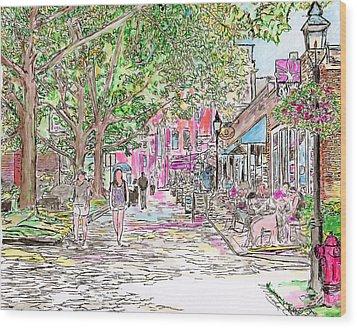 Summertime In Newburyport, Massachusetts Wood Print