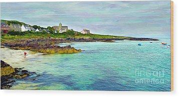 Summertime, Isle Of Iona Wood Print