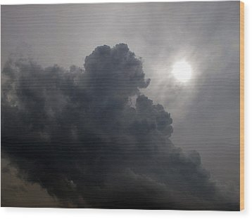 Sun Above The Clouds  Wood Print