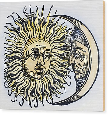 Sun And Moon, 1493 Wood Print by Granger