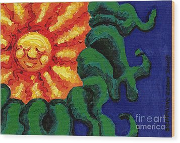 Sun Baby Wood Print by Genevieve Esson