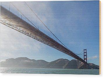Sun Beams Through The Golden Gate Wood Print by Scott Campbell