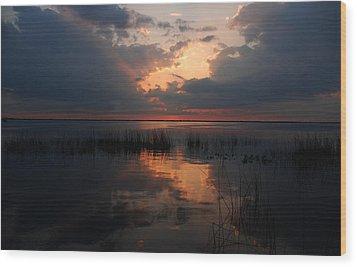 Sun Behind The Clouds Wood Print by Susanne Van Hulst