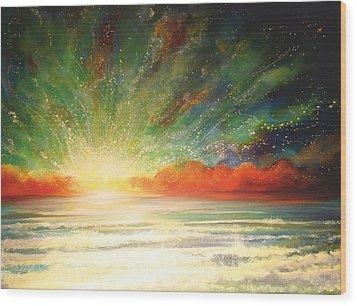 Sun Bliss Wood Print by Naomi Walker