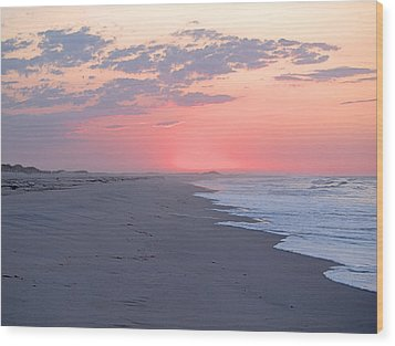 Wood Print featuring the photograph Sun Brightened Clouds by  Newwwman
