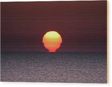 Sun Wood Print by Bruno Spagnolo