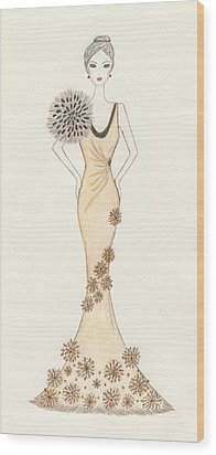 Sun Burst Gown Wood Print by Christine Corretti