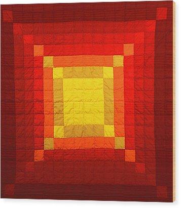 Sun Burst Wood Print by Mildred Thibodeaux