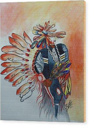 Sun Dancer Wood Print by Jimmy Smith