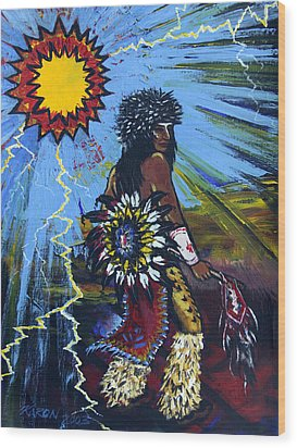 Sun Dancer Wood Print by Karon Melillo DeVega