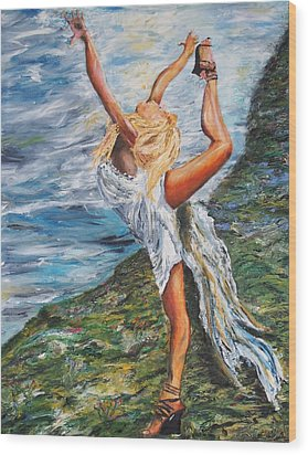 Sun Dancer Nastia Wood Print by Gregory Allen Page