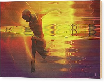 Wood Print featuring the digital art Sun Dancer by Shadowlea Is