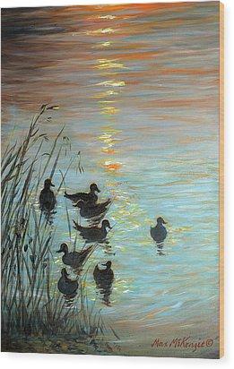 Sun Downers Wood Print by Max Mckenzie