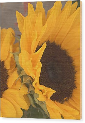 Wood Print featuring the digital art Sun Flower by Jana Russon