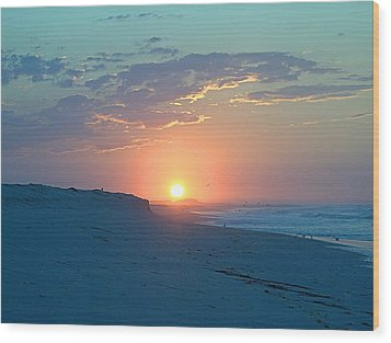 Wood Print featuring the photograph Sun Glare by  Newwwman