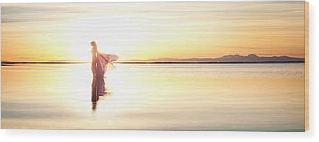 Wood Print featuring the photograph Sun Goddess Pano by Dario Infini