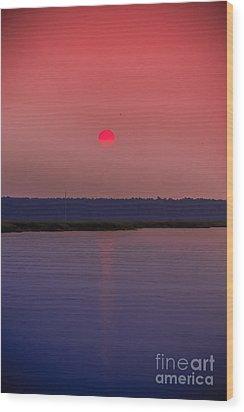 Sun Is Coming Down Wood Print
